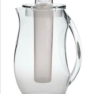 Clear Plastic Pitcher on Ice